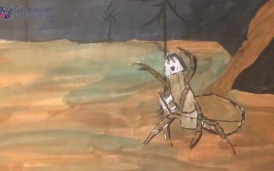"""Kreativ im Distanzunterricht: """"Der Knabe im Moor"""""""