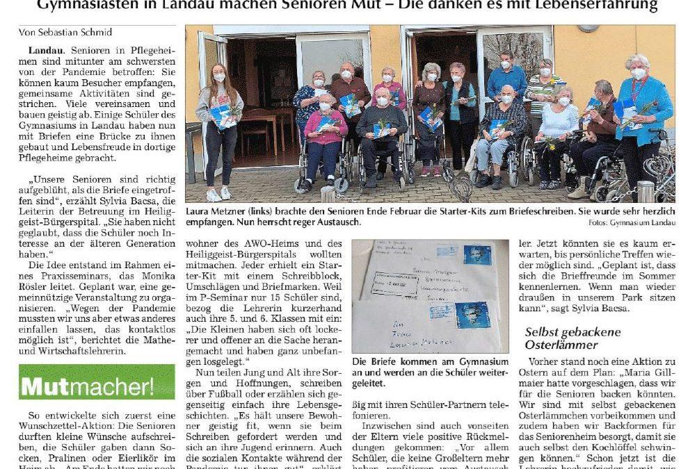 """P-Seminar """"gemeinnütziges Event"""" als Mutmacher ausgezeichnet"""